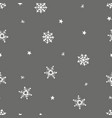 simple grey festive seamless pattern with hand vector image vector image