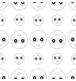 smiley seamless vector image vector image