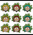 smiling happy relaxed guy smoking marijuana joint vector image vector image