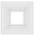 Square shaped guilloche pattern vector image vector image