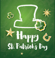 st patricks day card with golden stars and clover vector image vector image
