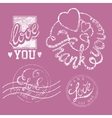 Stamps Love Set vector image vector image