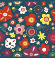 summer flowers seamless pattern background vector image vector image