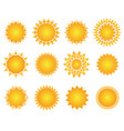 sun icon set geometric retro sunburst shapes vector image