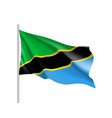 tanzania flag realistic vector image vector image