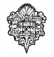 totem hawaiian tiki god tribal mayan stock illu vector image