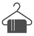 towel solid icon bathroom vector image