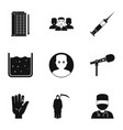 various phobias icon set simple style vector image vector image