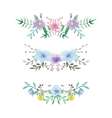 Watercolor floral border set vector image vector image