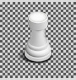 white chess piece rook isometric vector image vector image