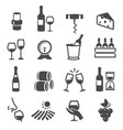 wine storage tasting drinking set thin line vector image