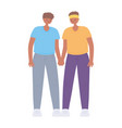 young couple character together cartoon isolated vector image vector image