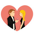young guy propose his girl friend on valentine vector image