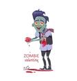 Zombie Valentine Man Flat vector image vector image