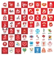 a large set of logos for gifts vector image