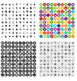 100 cleaning icons set variant vector image