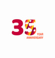 35 year anniversary purple template design vector image vector image