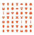 49 shirt icons vector image vector image
