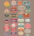 Retro design label