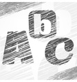 a b c letters vector image vector image