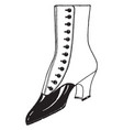 a similar to boots vintage engraving vector image vector image