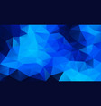 abstract irregular polygonal background neon blue vector image vector image