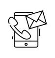 active communication line icon active vector image