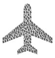 air plane collage of dollar and dots vector image vector image