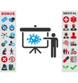 Bacteria Lecture Icon vector image
