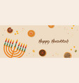 banner for jewish holiday hanukkah traditional vector image vector image