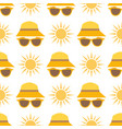 beach accessories summer hats sun fashion vector image vector image