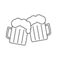 beer for friendly icons vector image vector image
