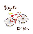 bicycle season icon ed color in doddle style with vector image vector image