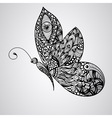 black butterfly tattoo syle vector image vector image