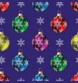 brilliant multi-colored christmas toys vector image vector image