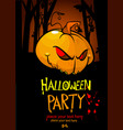cartoon halloween party invitation vector image vector image
