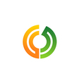 circle technology communication logo vector image