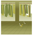 Clothing Boutique Background vector image vector image