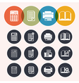 collection Circle Series icons Calculator notepad vector image vector image