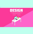 colorful isometric designer workspace template vector image vector image