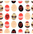 easter pattern with eggs vector image vector image