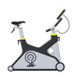 exercise bike bicycle with monitor handles vector image