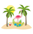 exotic bird and summer vector image vector image