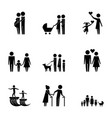family protection pictogram parents grandparents vector image