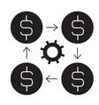 finance management black concept icon vector image vector image