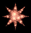 four-pointed star abstract lights christmas vector image