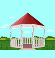 garden house decor background vector image vector image