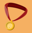 gold medal color vector image