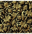 gold seamless pattern floral texture vector image vector image