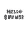 Hand-lettering quotes of summer